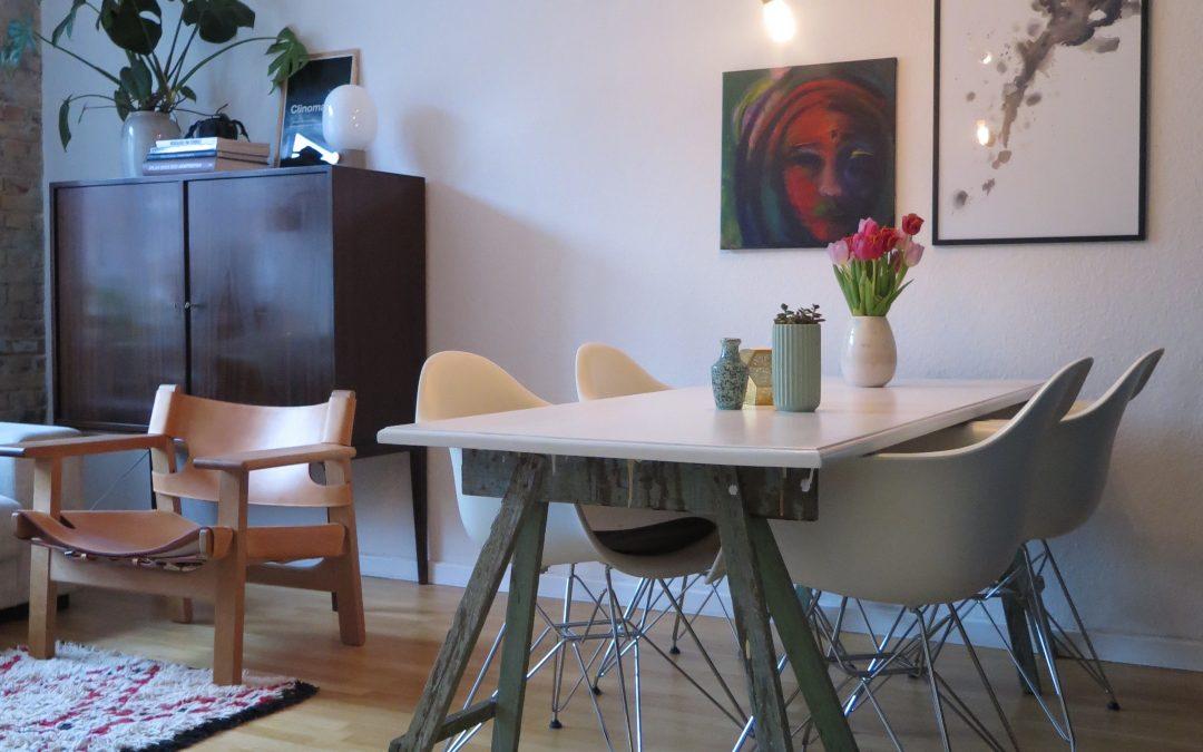 Ny vægfarve & energi i stuen