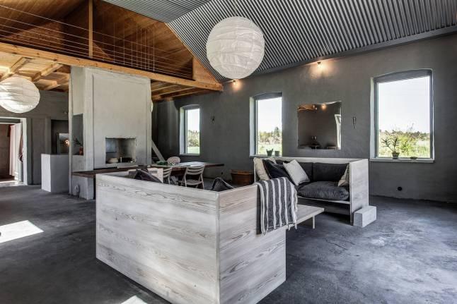 Industrielt feriehus på Gotland