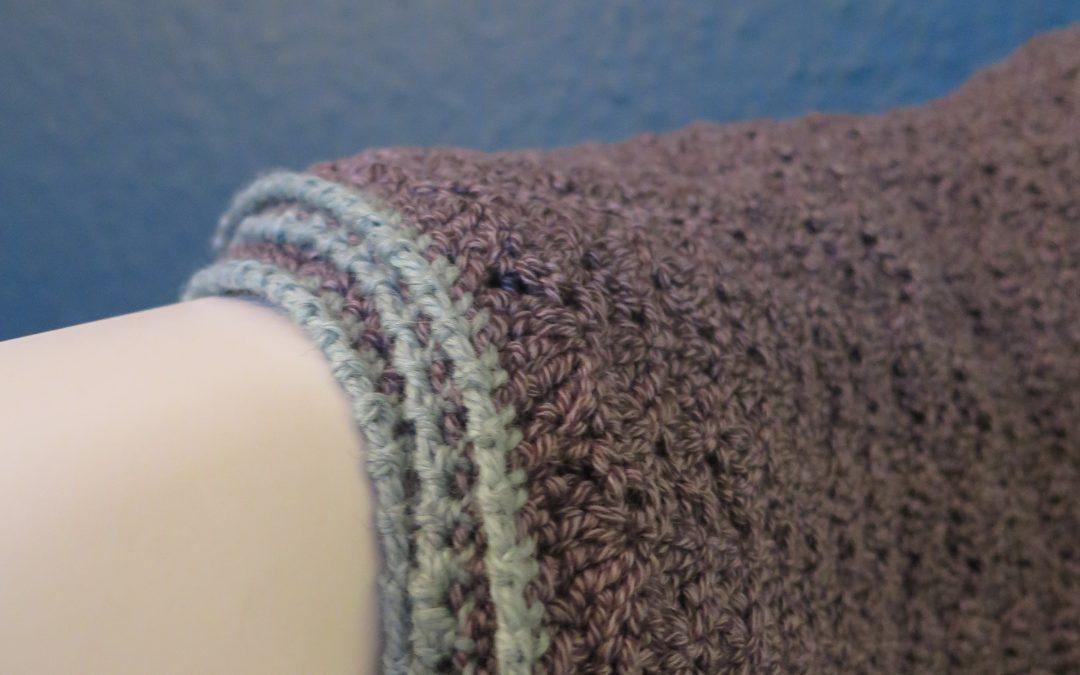Babytæppe i muslingemønster
