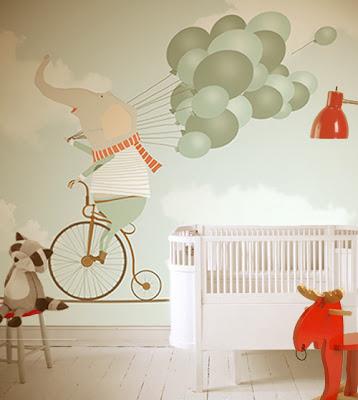 little hands wallpaper til børneværelset