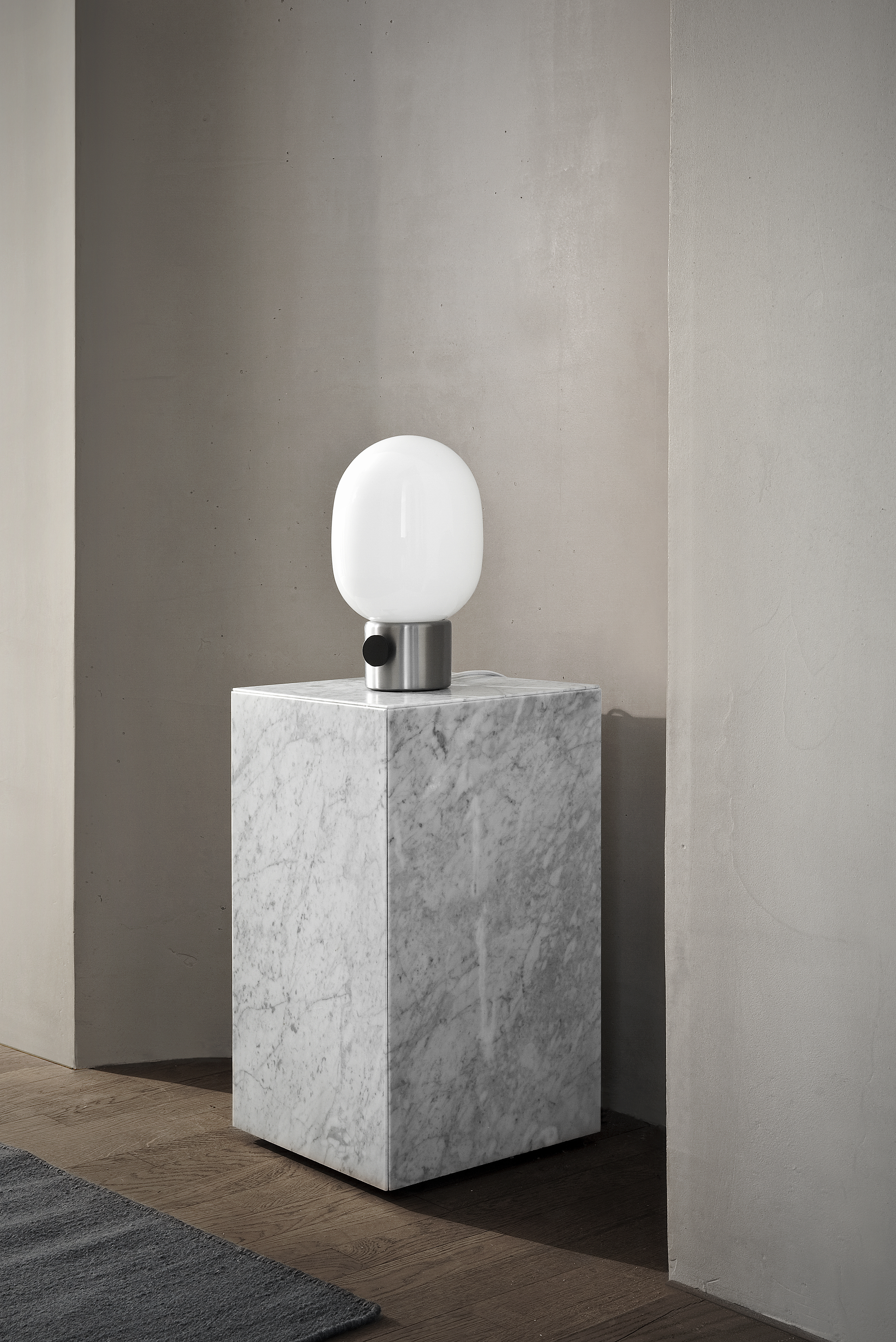 menu lampe marmor bord